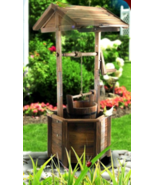 Wooden Wishing Well Garden Feature 96cm - $153.44