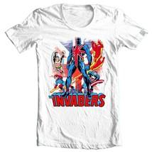 Union Jack The Invaders T Shirt vintage Marvel Comics 1970's graphic tee Namor image 1