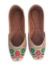 punjabi jutti khussa shoes mojari indian shoes flip flops jooti USA-8 - £24.51 GBP