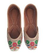 punjabi jutti khussa shoes mojari indian shoes flip flops jooti USA-8 - $29.99
