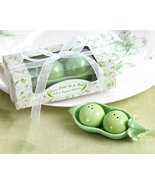 Two Peas in a Pod - Ceramic Salt and Pepper Shakers in Ivy Print Gift Bo... - $53.35