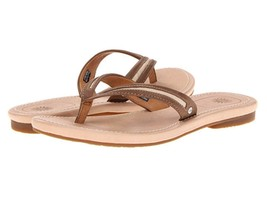 Womens UGG Australia ELYZA Thong Sandals Flip Flops Leather Chestnut - $44.99