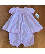 Petit Ami baby girls Smocked bloomer set 6 Months pink gingham NEW bisho... - $29.67