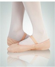 Leo's 065 Pink Adult 8.5C (Fits 10 Adult) Full Sole Leather Ballet Shoe - $14.84