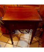 Solid Cherry Late 1800's Work Table / Nightstand / Side Table - $399.00