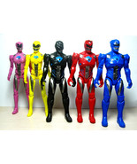 5pcs Power Rangers Movie Action Figure Jason Kimberly Play set Toy W/ Light 17cm - $19.82