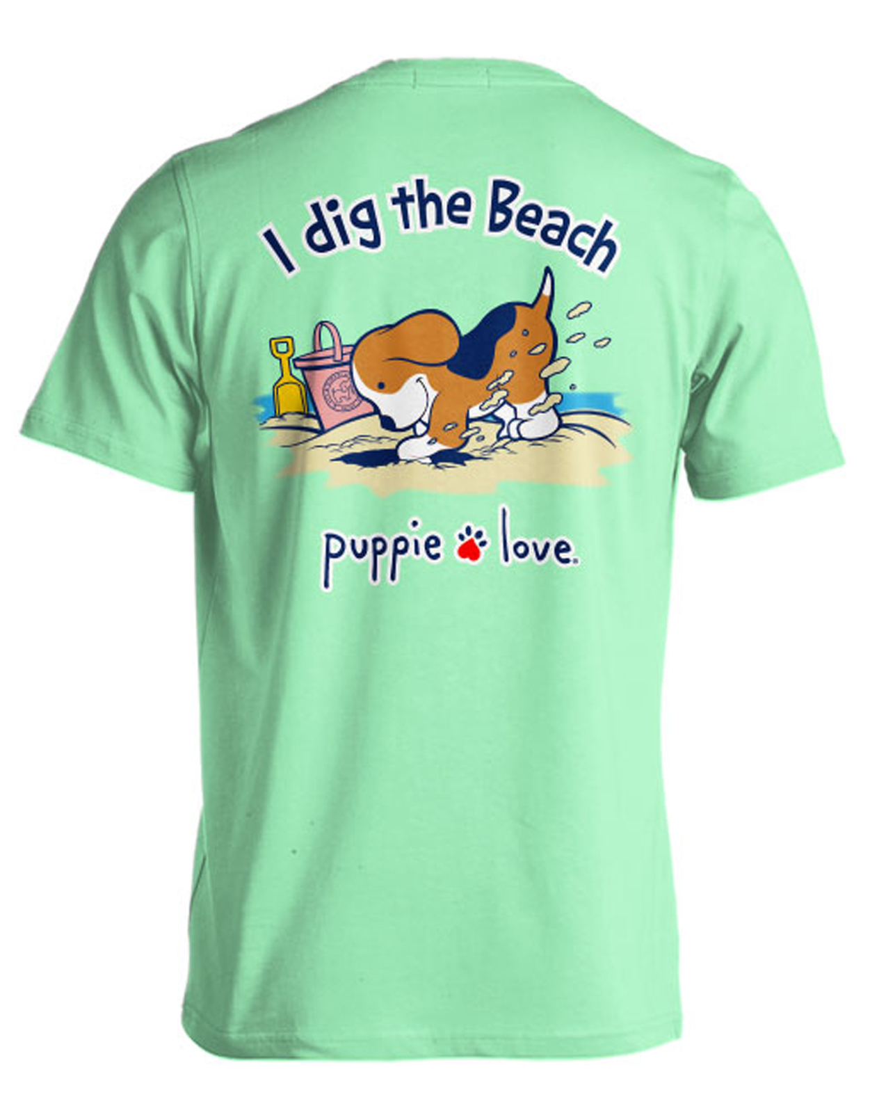 Puppie Love Rescue Dog Adult Unisex Short Sleeve Graphic T-Shirt, Digging Pup