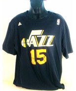 ADIDA'S NBA BASKETBALL UTAH JAZZ FAVORS 15 JERSEY MEN'S XL BLUE - $19.95