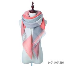 Evrfelan New Winter Scarf Fashion Women Scarf Luxury Plaid Cashmere Scarves Wome image 3