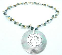 VTG MERAS .925 Mexico Sterling Silver MultiColor Fresh Water Pearl Abalo... - $74.25
