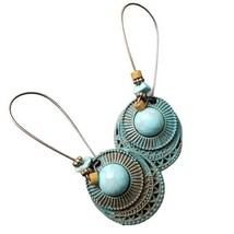 Fashion Jewelry Womens Blue Rustic Bohemian Dangle Earrings Boho Accesso... - $20.00