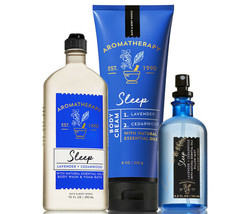 Bath & Body Works Aromatherapy Sleep - Lavender & Cedarwood Trio Gift Set - $41.11