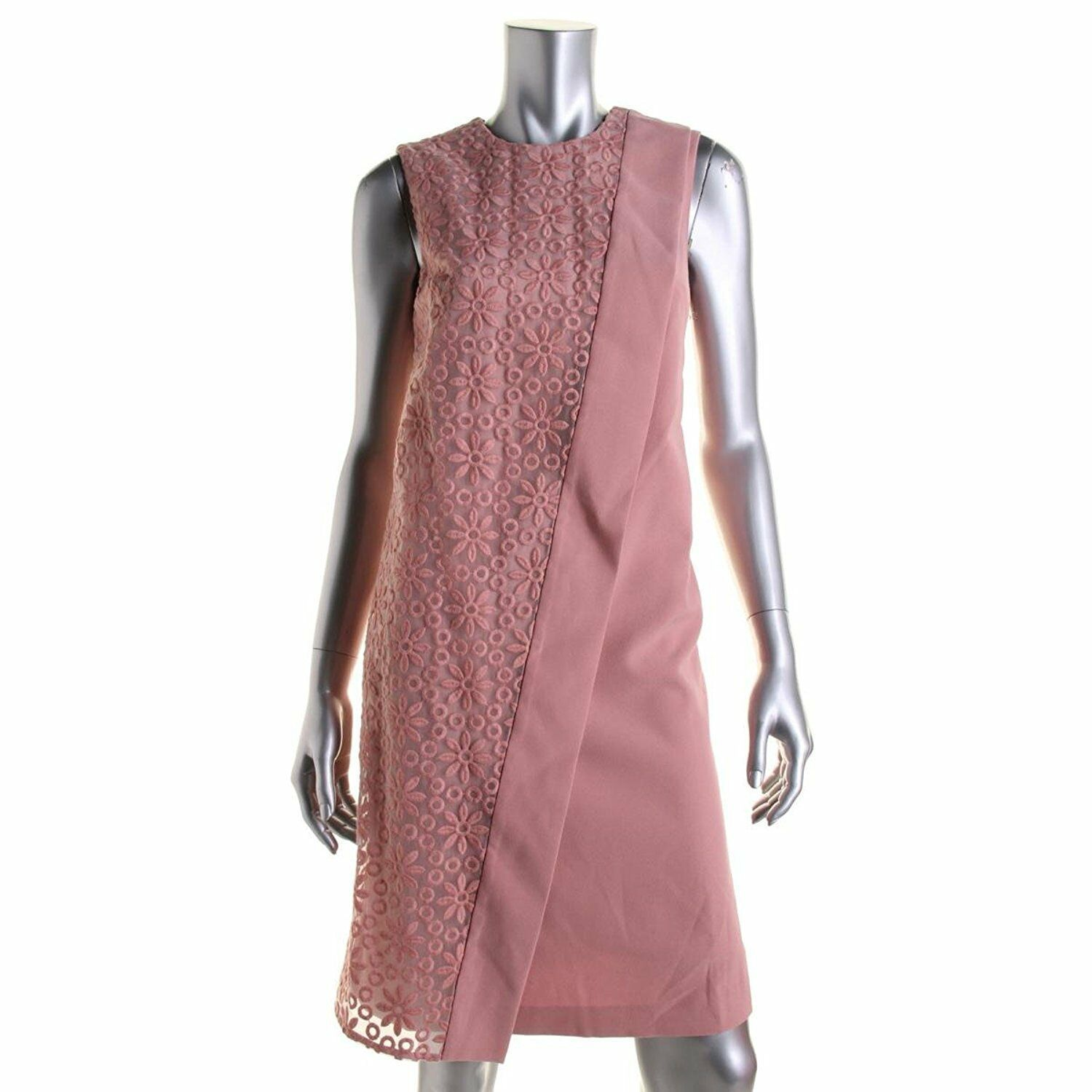 Primary image for Anne Klein Women's Sz 12 Combo Sleeveless Overlap Dress Petal 2146-3