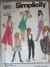 7405 Vintage Simplicity Cartamodello Ragazze' Pullover Culotte Tutina In... - $4.89