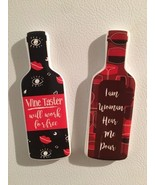 2 Black/Red Funny Fridge Quote Wine Bottle Magnets Party Favors Holiday ... - $7.91