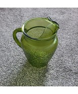 """Vintage Farmhouse Anchor Hocking? Green Textured Large 9"""" Tall Glass Pit... - $19.99"""