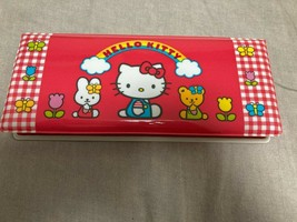 Vintage 1999 Sanrio hello kitty pencil case New Red Gingham Cathy Tiny Chum Cute - $42.00