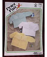 VINTAGE Knitting Patterns BABY CHILD SWEATERS Peter Pan Chest Sizes 16 -... - $4.95
