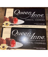 Queen Anne ~ Milk Chocolate French Vanilla Cherries Cordials 20-Count ~ ... - $16.82
