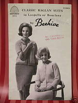 Retro Vintage Classic Raglan Suit Knitting Patterns Ladies Skirt Top Jacket - $6.95