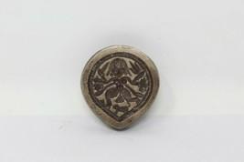 Antique Hindu Goddess Kali Mata Hand Carved Brass Pendant Dye Mold Seal ... - $60.78