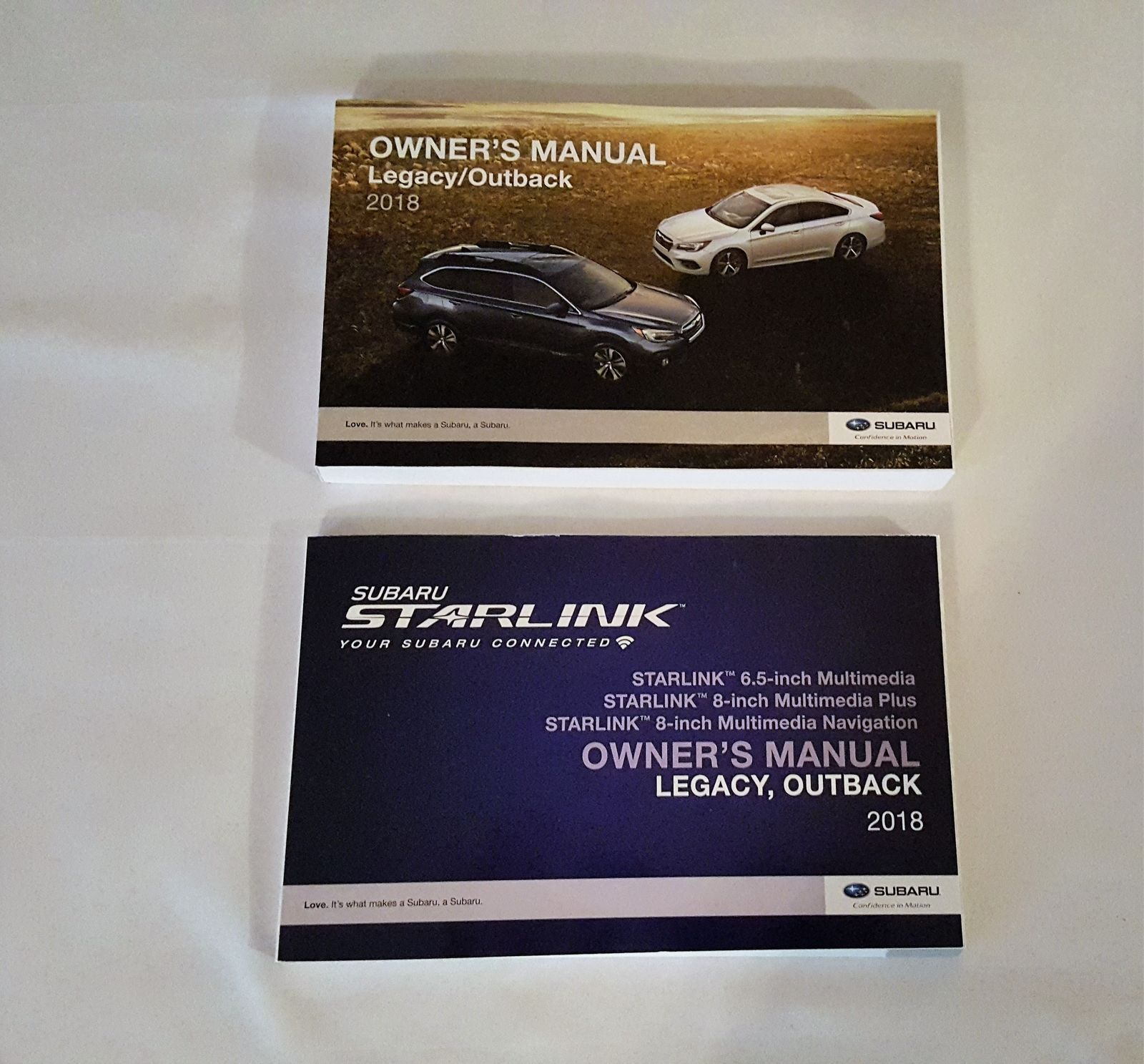 2018 Subaru Legacy / Outback Owners Manual with Nav Manual 05174