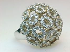 HUGE CUBIC ZIRCONIA Vintage DOME RING - Size 7 1/2 - $125.00