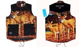 NEFF Deer / Elk Bright Chalet Quilted Inside Heavy Duty 3-Pocket Vest Mn... - $55.99