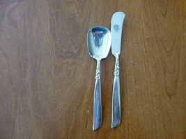 2 SOUTH SEAS Community Silverplate Master Butter Knife/ Sugar Shell Spoon - $15.99