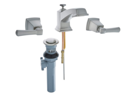 Moen 84820SRN DoubleHandle Widespread Bathroom Faucet Spot Resist Brushed Nickl  - $89.00