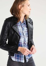 Women's Leather Motorcycle 100% Biker Jacket Real Genuine Soft Lambskin -105