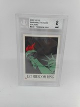 2001 Topps Enduring Freedom Stickers #9 Let Freedom Ring Beckett Grade 8 NM-MT - $1.99