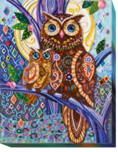 "Bead Embroidery DIY Kit ""Owls"" 11.0""х14.2"" - $72.95"
