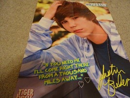 Justin Bieber Victoria Justice teen magazine poster clipping hand on hea... - $3.00