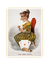 1884 Currier & Ives The Odd Trick 8x10 Print - $9.85