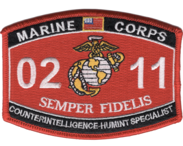 Marine Corps Mos 0211 Counterintelligence Humint Specialist Embroidered Patch - $23.74