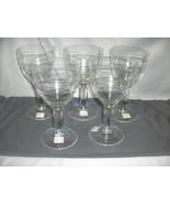 5 Crate & Barrel Crystal Uma Water Goblets 162-167 Poland 8Oz New Sticke... - $89.09