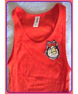 M L or XL Orange ANGRY BIRDS Girl Tee T SHIRT Tank Top Women Junior Hall... - $8.99