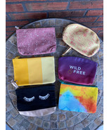 Lot of 6 Makeup Bags Pouches Ipsy Misc Tetris Glam Make Up Jewelry Trave... - $14.70