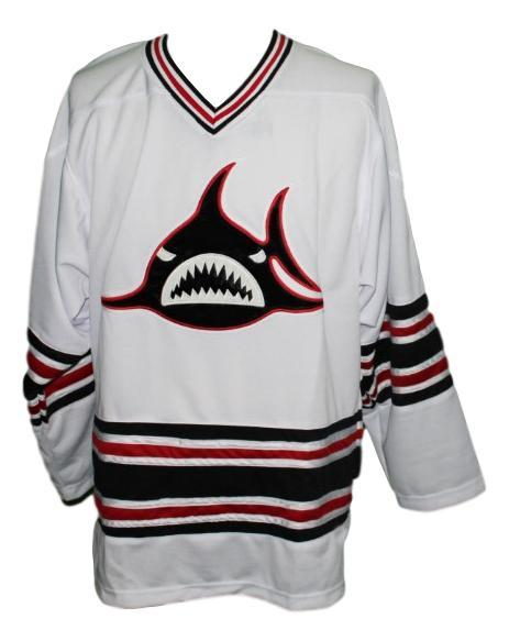 Los angeles sharks retro hockey jersey white   1