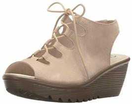 Skechers Women's Parallel Peep Toe Ghillie Slingback Wedge Sandal Natura... - $54.44