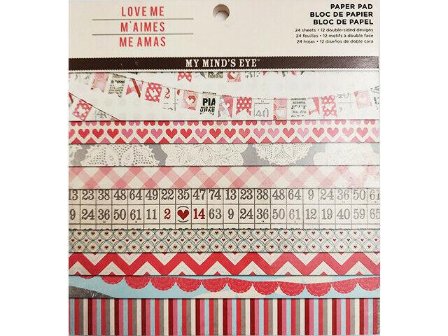 My Mind's Eye Love Me Paper Pad, 6x6 Inch #LMO112