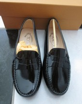 NIB 100% AUTH TOD'S BLACK PATENT LEATHER MOCCASINS FLATS SHOES CLASSIC 35.5 - $296.01