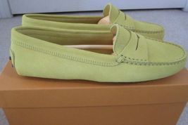 NIB 100% AUTH TOD'S SUEDE LEATHER FLATS IN YELLOW SIZE 37.5 RETAIL $425 - $338.25