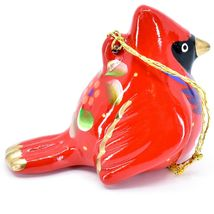Handcrafted Painted Ceramic Red Cardinal Confetti Ornament Made in Peru image 5