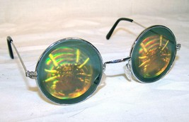 2 SPIDER IN WEB HOLOGRAM 3D GLASSES mens womens glasses illusion spiders... - $8.98