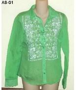 Aeropostale Sz Jr. Small Sheer Bandana Woven Shirt 3034 NWOT - $15.99