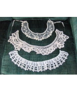 Lace And Crochet Shirt Collars Vintage - $10.00