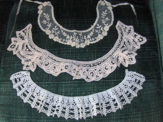 Lace And Crochet Shirt Collars Vintage