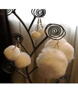 New Set Of 3 Handcrafted White Fluffy Winter Sn... - $11.99
